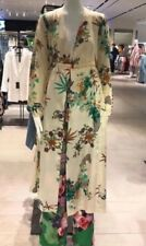 ZARA Floral  Kimono Coat Dress Size XS Uk 6/8 Silky Look Celebrities Fav