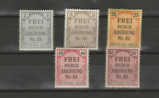 Germany  1903 Government Service Stamps for use in Preussen MNH