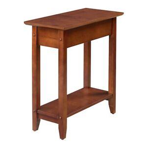 Convenience Concepts American Heritage Flip Top End Table, Mahogany - 7105059MG