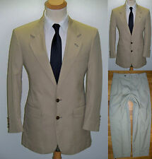 41S 41R Khaki CLAYMORE SHOPS Bespoke Wool Blend MOD Business Casual Mens Suit