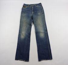 Vintage Sergio Valente Mens 31 Unhemmed Distressed Western Denim Jeans Blue
