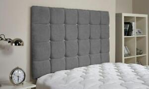 """36"""" inch Tall Master Headboard in Chenille with Diamonds 3FT, 4FT,4FT6, 5FT, 6FT"""