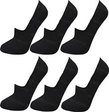 12 Pairs Fresh Feel Anti Slip Ladies Womens Cotton Invisible Socks UK 4-7 L10802 Black