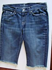 7 For All Mankind Womens Jeans Shorts  Size 29  Skull A Pocket Medium Wash