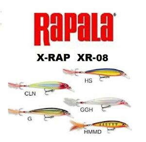 "Rapala X-Rap, XR-08, 3-1/8"", 1/4 oz, Choice of Colors"