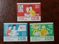 DDR ( East Germany ) - 1964 - Women's Congress of the GDR 3 Stamp Full Set - MNH