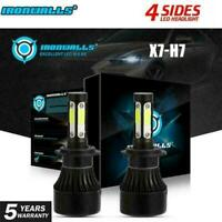 2x 4-Side H11 H8 H9 LED Headlight Kits Bulb 120W 14400LM Fog Lights 6000K White