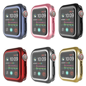 Case For Apple Watch 6 5 4 3 SE Screen Protector TPU Plating Cover 38/42/40/44mm