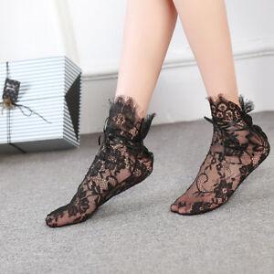 Fashion Ladies Women Girl Hollow Lace Fancy Ankle Socks Spring Mesh Short Sock