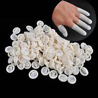 100x doigtier en latex doigt embout protège rubber finger cot nail art manucure
