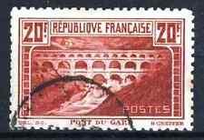"FRANCE STAMP TIMBRE 262 B "" PONT DU GARD 20F DENTELE 11 ""OBLITERE TB A VOIR R218"