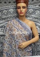 Scarf Gift Indian Hand Block Print Fabric Women Cotton Long Sarong Dupata Stole