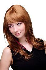 Perücke Dunkelblond + Rot leicht gewellte lange Haare Damenperücke 4038-27C