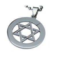Mens Stainless Steel Star of David Magen David Pendant for Necklace Judaism
