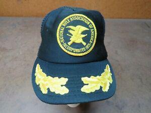 Vintage NRA Freedom national rifle mesh USA snapback hat trucker cap Black