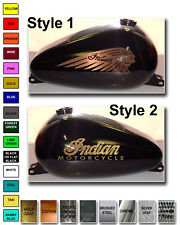 MOTORCYCLE  GAS TANK DECAL INDIAN STYLE CLASSIC VINTAGE CUSTOM EMBLEM