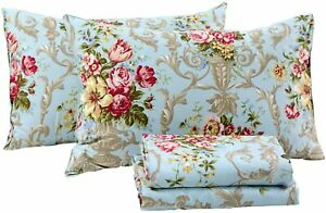 FADFAY Shabby Floral Bedding Elegant Peony Sheets Set Luxury Bedding Collections