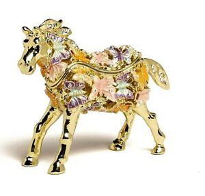 Butterfly Horse trinket box hand made by Keren Kopal & Austrian crystals