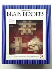 Cardinal Brain Benders 3D Solid Wood Puzzle New Ages 8+