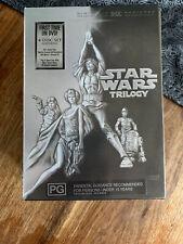 Near New Star Wars Triology DVD Box Set 4 Discs PAL Episodes IV V VI