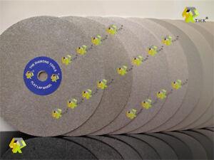 "12 pcs THK Diamond coated 6"" inch 150mm Flat Lap wheel Lapidary polishing disc U"