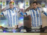 Panini Prizm World Cup 2014 Lionel Messi Refractor Silver Prizm & Regular set