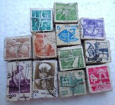 1,200 Pcs LOT ( 12 Bundles) - 12 DIFFERENT * 100 - 6th SERIES Stamp - india