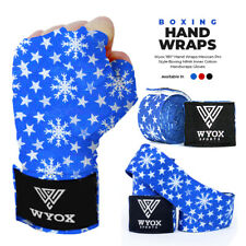 Wyox Hand Wraps Mexican Bandages Boxing Fist Inner Gloves Muay Thai MMA Blue