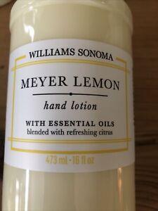 Williams Sonoma Meyer Lemon Hand Lotion 16 fl Oz New