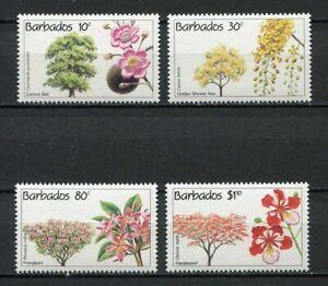28423) BARBADOS 1992 MNH** Nuovi** Flowers Fiori 4v