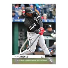2019 TOPPS NOW #23 ELOY JIMENEZ 1ST HIT OF MLB CAREER COMES IN MULTI-HIT GAME