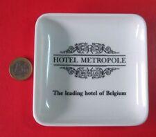 Hotel  Belgium Metropole Plates For One Money, Ashtray, Hard Plastic, Bruxelles
