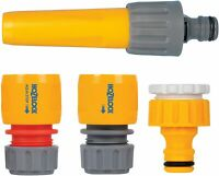 4pc Garden Hose Pipe Tap Connector Connection Set Fitting Adaptor hoselock UK SE