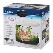 Aqueon 5 Gallon MiniBow LED Desktop Fish Aquarium Kit, White