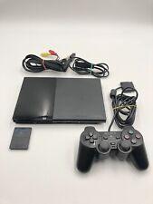 Sony Playstation 2 slim schwarz, Controller, Memory Card SCPH-90004, PS2 Konsole