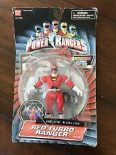 Power Rangers Red Turbo Ranger Saban?s 1997 Action Figure Arms Open Blades Spin