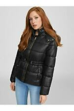 G by GUESS Demi Faux-Fur Hooded Puffer Coat Black, XS, brandnew with tag