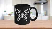 Butterfly Mug Black Coffee Gift for Explorer Meadows Trans Social Co-Worker Mom