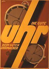 Original Plakat - Die gute Uhr beim Uhrmacher
