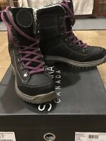 SANTANA CANADA MARLIE BLACK LEATHER/SUEDE SNOW BOOT SIZE 7/38 WORN ONCE