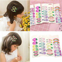 6Pcs Lovely Girls baby Hair Clips Snaps Hairpin Baby Kids Hair Bow Accessories