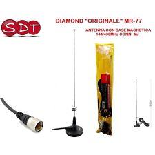 """DIAMOND """"ORIGINALE"""" MR-77 ANTENNA CON BASE MAGNETICA 144/430MHz CONN. MJ"""