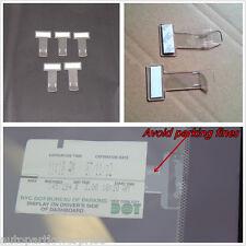 5 × titular de la permiso de clip de boleto de estacionamiento para Coche Parabrisas mantiene boleto de estacionamiento seguro