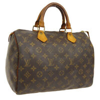LOUIS VUITTON SPEEDY 30 HAND BAG MONOGRAM CANVAS VINTAGE M41526 A46568f