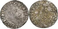 Ostpreussen Königsberg Groschen 1543 Albrecht von Brandenburg #K220