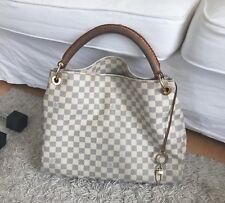 Louis Vuitton Artsy MM Azur Handtasche Shopper Canvas Tasche Hobo Top