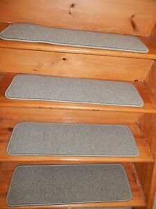 "15 = STEP  9"" X 30""  + Landing  30"" x 30""  carpet stair Step WOOL ."