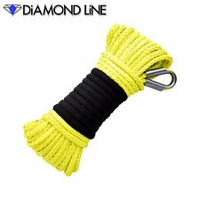"""Synthetic Yellow 3/16"""" Winch Rope 50' ATV Cable Ramsey Warn KFI Compatable"""