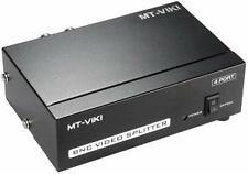4-Port BNC Coax Composite Video Splitter Distribution Amplifier CCTV DVR 1x4 NEW