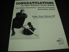 Robert Cray Band Take Your Shoes Off is award winning 2000 Promo Poster Ad mint